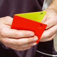 Kartka czerwona i żółta –  komplet 2 szt. zespolone<br>Art. Nr 4058